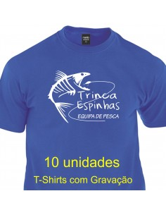 10  T-Shirts Equipa Pesca